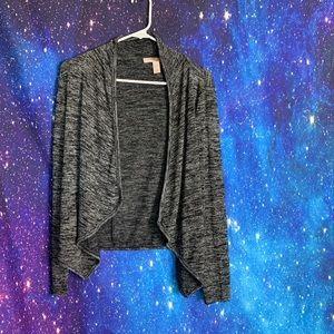 Forever 21-Dark Gray Long Sleeve Shrug size xsmall